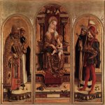 Carlo Crivelli (c. 1435  c. 1495)  Triptych of Camerino  Tempera on panel, 1482  Pinacoteca di Brera, Milan,  Italy